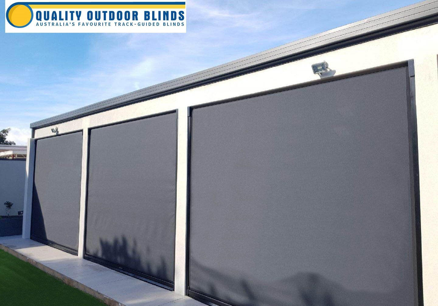 black-roller-blinds-adelaide-with-logo